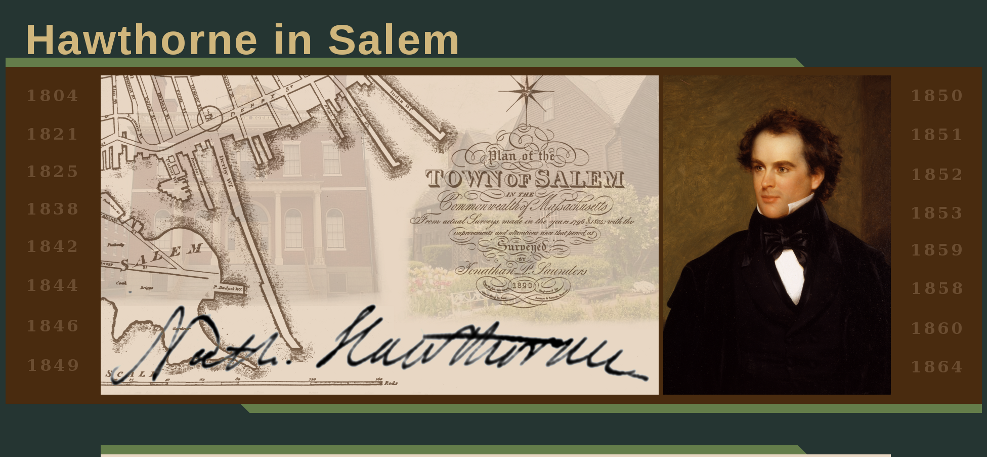 Nathaniel Hawthorne In Salem website